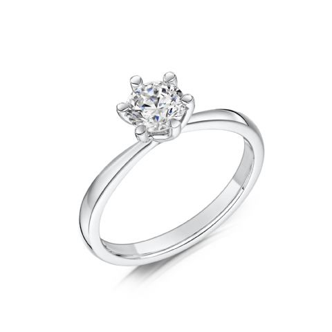 0.33 Carat GIA GVS Diamond solitaire 18ct White Gold Round twist Engagement Ring MWSS-1210/033